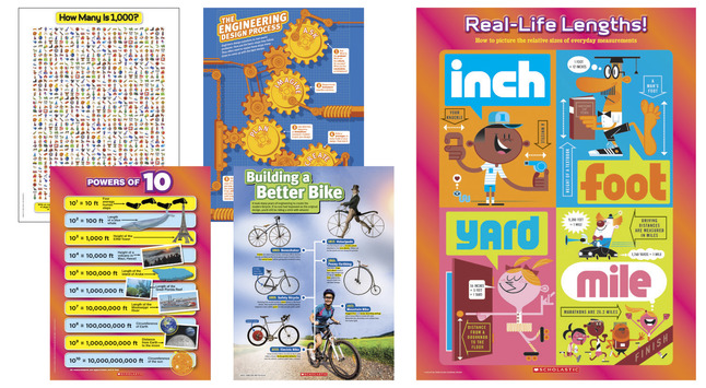 Image for Scholastic STEM Concepts Posters, Set of 5 from School Specialty
