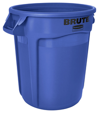 Rubbermaid Commercial BRUTE Garbage Can, Round, Plastic, 32 Gallon, Blue Item Number 1568918