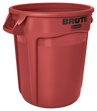 Rubbermaid Commercial BRUTE Garbage Can, Round, Plastic, 32 Gallon, Red Item Number 1568920