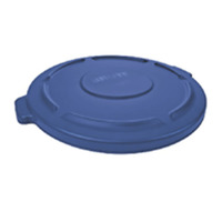 Rubbermaid Commercial BRUTE Recycling Trash Can Lid, 32 Gallon, Blue Item Number 1568921