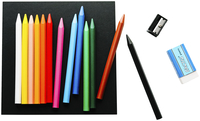 General's Woodless Colored Pencils, Assorted Colors, Set of 12 Item Number 1569588