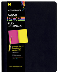 Neenah Paper Astrobrights ColorPop Flex Journals, Assorted Colors, Set of 3 Item Number