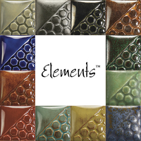 Mayco Elements Glaze Set, Assorted Colors, Set of 12 Pints Item Number 1570825