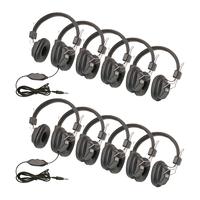 Califone 1534BK Child Size Headsets, Black, Set of 10 Item Number 1571558