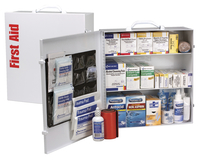Image for First Aid Only First Aid Station w/ Med, 3-Shelf ANSI B Metal Case,White from School Specialty