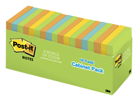 Image for Post-it Notes, 3 x 3 Inches, Jaipur Colors, 18 Pads with 100 Sheets Each from School Specialty