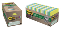 Image for Post-it Sticky Recycled Notes, 3 x 3 Inches, Bora Bora Colors, 24 Pads with 90 Sheets from School Specialty