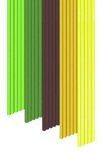 3Doodler PLA Strand, the Essentials, PLMIX6 Mix, Pack of 25 Item Number 1574126