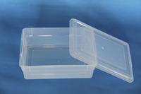 School Smart Storage Box with Lid, 11 x 16 x 6 Inches, Translucent Item Number 1576286