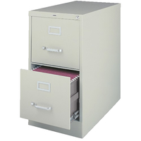 Lorell Steel 2 Drawer Vertical Legal File Cabinet, 18 x 26-1/2 x 28-1/2 Inches, Light Gray Item Number