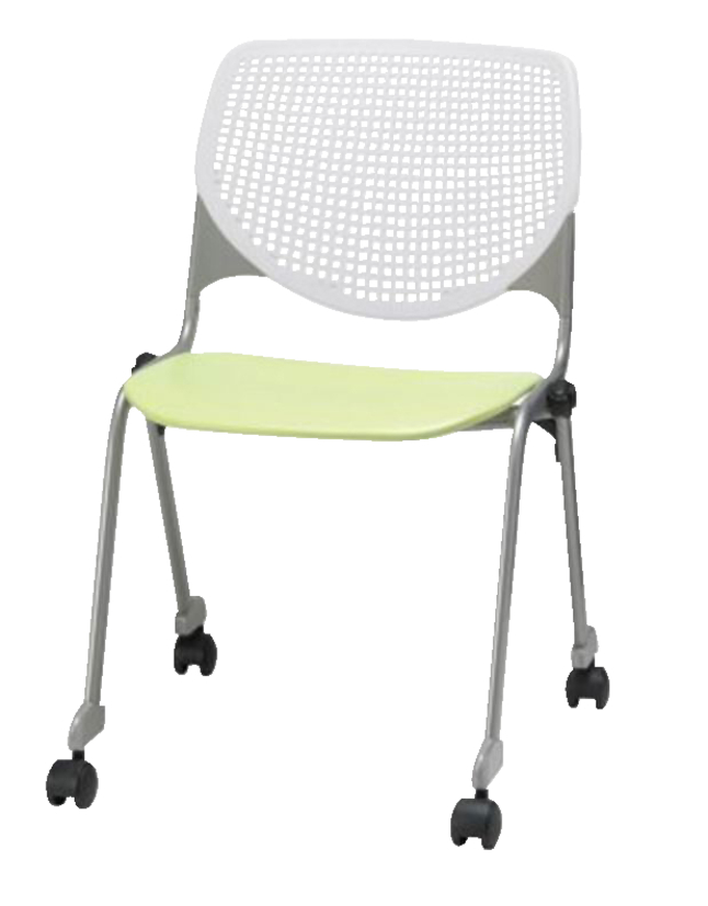 Phenomenal Kfi Kool Series Perforated Back Stack Chair With Casters 17 1 2 Inch Seat Height 20 1 2 X 21 1 4 X 31 Inches Various Options Evergreenethics Interior Chair Design Evergreenethicsorg