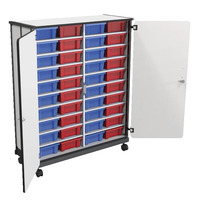 Balt Mobile Tub Storage Cart, 40 Tub Capacity Item Number 1577122