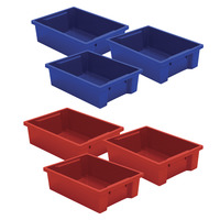 MooreCo Plastic Storage Tubs - Set of 6 Item Number 1577124