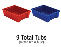 MooreCo Plastic Storage Tubs - Set of 9 Item Number 1577125