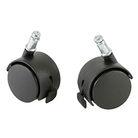 CanDo Ball Chair Replacement Locking Casters, Black, Set of 2 Item Number 1588136