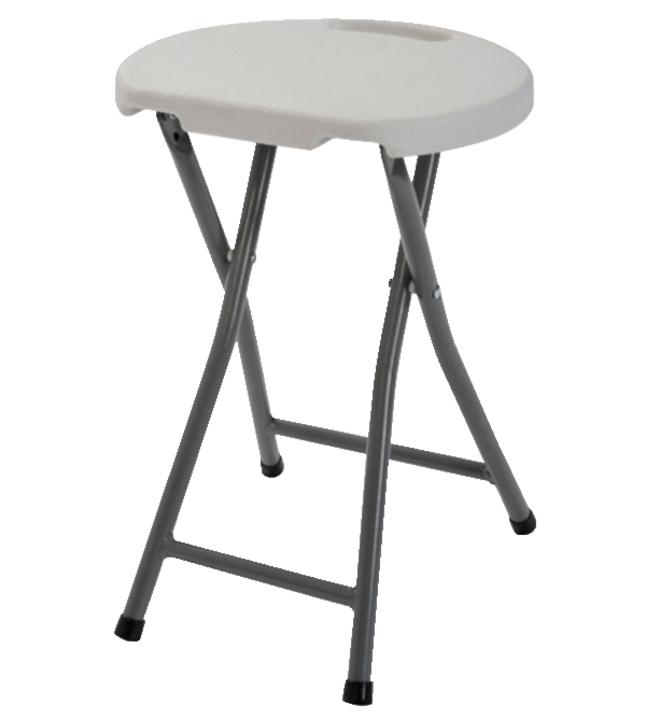 Terrific Sandusky Lee Folding Plastic Stool 13 X 13 X 18 Inches White Pack Of 4 Creativecarmelina Interior Chair Design Creativecarmelinacom