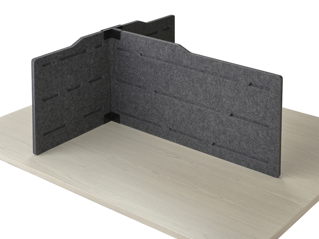 Image for Safco T-connector Personal Privacy Panel Kit, 37 x 36 x 17-1/2 Inches, Gray from School Specialty