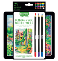 Crayola Signature Blend and Shade Colored Pencils, Set of 24 Item Number 1592298