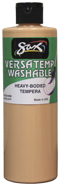 Sax Washable Versatemp Heavy Bodied Tempera Paint, Peach, Pint Item Number 1592664