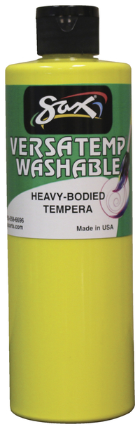 Sax Washable Versatemp Heavy Bodied Tempera Paint, Yellow, Pint Item Number 1592667