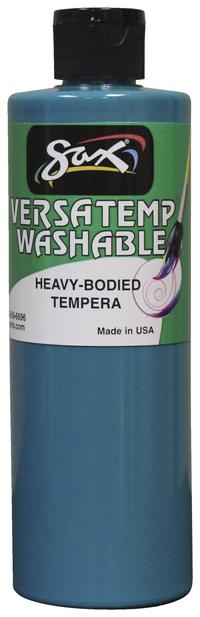 Sax Washable Versatemp Heavy Bodies Tempera Paint, Turquoise, Pint Item Number 1592668