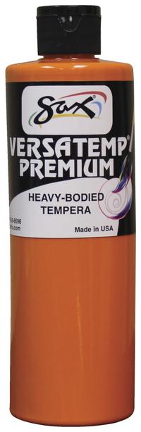 Sax Versatemp Premium Heavy-Bodied Tempera Paint, Orange, Pint Item Number 1592704
