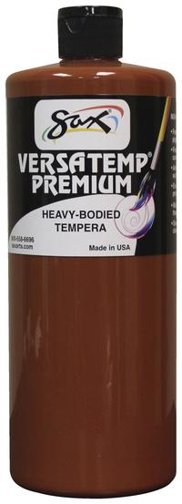 Sax Versatemp Premium Heavy-Bodied Tempera Paint, Brown, Quart Item Number 1592713