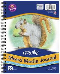 Ucreate Mixed Media Journal, 11 x 8-1/2 Inches, 50 sheets Item Number 1593163