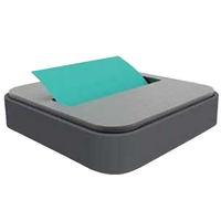 Post-it Steel Top Pop-Up Note Dispenser with 1 Note Pad, Black Item Number