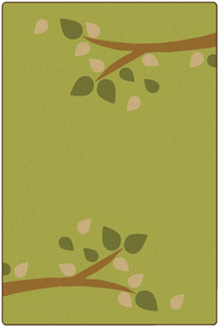 Carpets For Kids KIDSoft Branching Out Rug, 6 x 9 Feet, Rectangle, Green Item Number 1593510