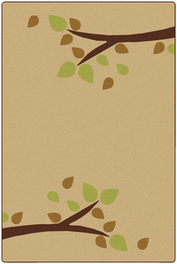Carpets For Kids KIDSoft Branching Out Rug, 6 x 9 Feet, Rectangle, Tan Item Number 1593512