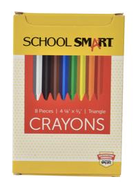 School Smart Triangular Crayons, Assorted Colors, Set of 8 Item Number 1593523