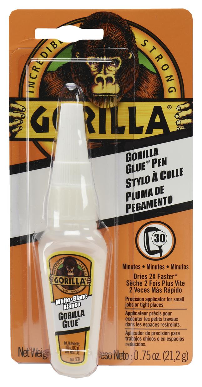 Gorilla Glue Precision Glue Pen With Fast Cure 0 75 Ounce White