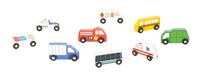 Melissa & Doug Wooden Town Vehicles, Set of 9 Item Number 1594194