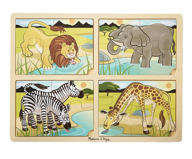 Melissa Doug 4 In 1 Safari Jigsaw Puzzle