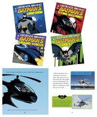 DC Comics Super Heroes Science Behind Batman Books, Set of 4 Item Number