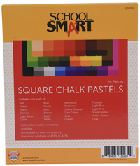 School Smart Square Chalk Pastels, Assorted Colors, Set of 24 Item Number 1594960
