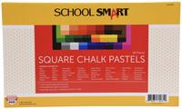 School Smart Square Chalk Pastels, Assorted Colors, Set of 48 Item Number 1594961