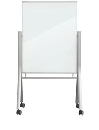 MooreCo Visionary Curve - White Colored Glass Whiteboard Item Number 1595173