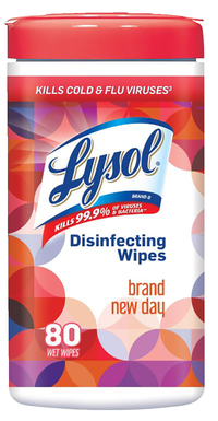 Lysol Disinfecting Wipes, Brand New Day Scent, 80 Sheets Item Number 1595292