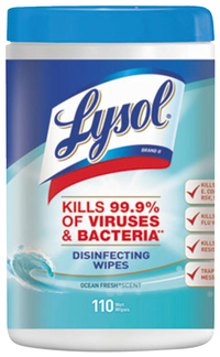 Lysol Disinfecting Wipes, Ocean Fresh Scent, 110 Count Canister Item Number 1595294