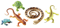 Learning Resources Jumbo Reptile and Amphibian Animals, Set of 5 Item Number 1595879