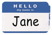 Name Badge Labels, Item Number 1597246