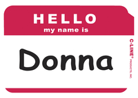 Name Badge Labels, Item Number 1597247
