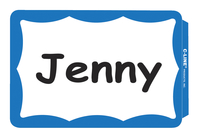 C-Line Blank Name Badge Labels, Blue Border, 3-1/2 x 2-1/4 Inches, Pack of 100 Item Number