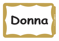 C-Line Blank Name Badge Labels, Gold Border, 3-1/2 x 2-1/4 Inches, Pack of 100 Item Number