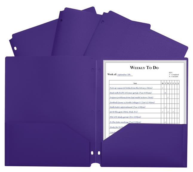 Poly 2 Pocket Folders, Item Number 1597266