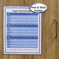 C-Line Self-Adhesive Sheet Holders, 8-1/2 x 11 Inches, Pack of 50 Item Number