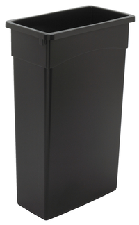 Continental Commercial Products Wall Hugger Receptacle, 23 Gallon, Black Item Number 1597495