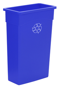 Continental Commercial Products Wall Hugger Recycle Receptacle, 23 Gallon, Blue Item Number 1597496